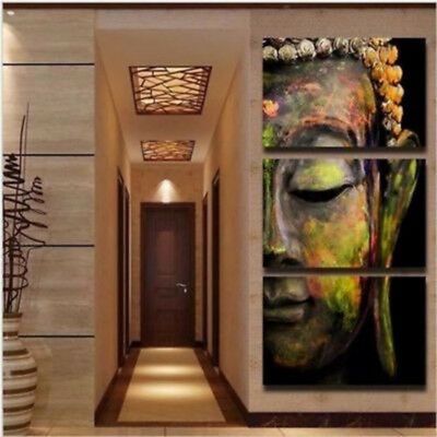 Buddha Modern the abstract Wall Decor Oil Painting On Art Canvas No Frame 3pc