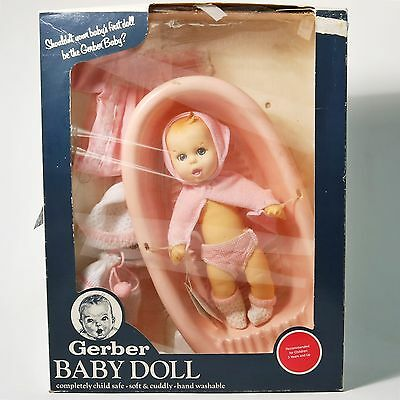 "Vintage 12"" Gerber Baby Doll w/ Accessories, Moving Eyes NIB"