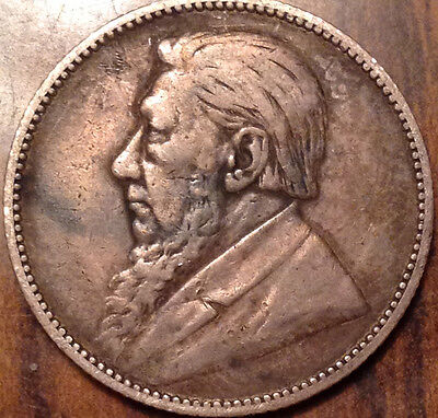 1896 South Africa Silver Shilling In Great Condition !