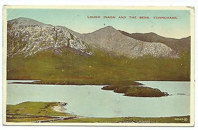 IRELAND - LOUGH INAGH & THE BENS, CONNEMARA 1949  Postcard