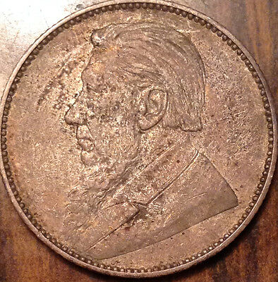 1897 South Africa Silver Shilling In Great Condition !