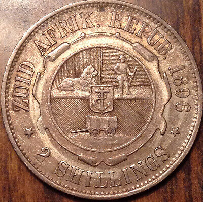 1896 South Africa Silver Two Shilling In Best Of Circulated Condition