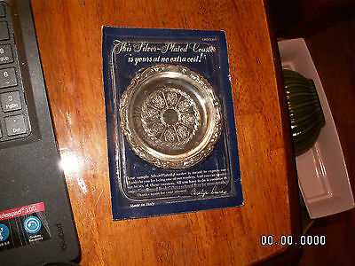 1988 Vintage Rare Readers Digest Subscription Exclusive Silver Plated Coaster