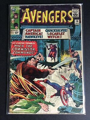 AVENGERS #18 (Vol.1) MARVEL COMICS Major Hoy first appearance Silver Age