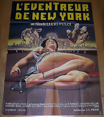 The New York Ripper Original Horror Poster French Grande Lucio Fulci Giallo