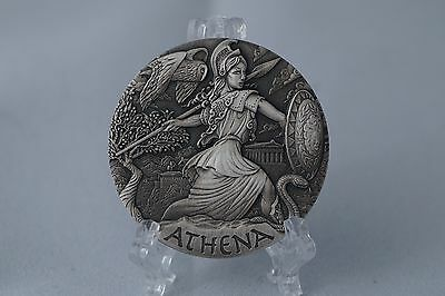 Perth Mint 2015 - GODDESSES OF OLYMPUS 2oz High Relief Silver Coin: ATHENA