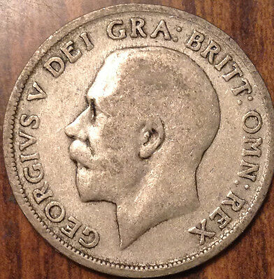 1920 Uk Gb Great Britain Silver One Shilling
