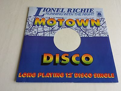 """Lionel Richie Running With The Night 12"""" Single 1982 Motown Tmgt 1324 Exc Cond"""