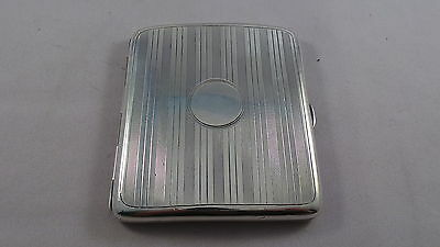 Nice Antique Sterling Silver Cigarette Case  Chester 1915