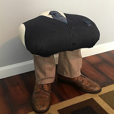Otto-man Foot Stool Handmade Men's Wardrobe Man Cave Unusual Unique Folk Art Odd