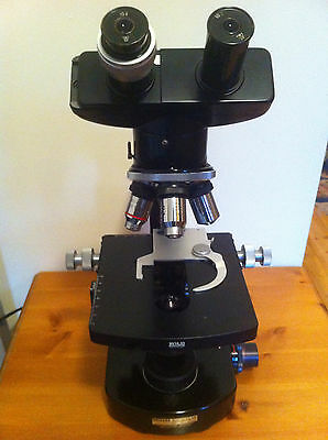 Wild Heerbrugg M20 Microscope 94763 (good condition) 4 lenses! ; 1940-1960s