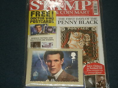 Stamp &Coin Mart Magazine 'May 2013' Rare Sealed Issue w/DOCTOR WHO POSTCARDS