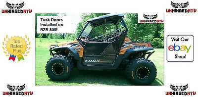 b7dfe973ff467e TUSK ALUMINUM SUICIDE Doors with Nets Fits  Polaris RZR 800 EPS 2011 ...