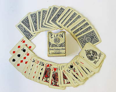 Antique Elfin Miniature Playing Cards by Chas Goodall & Sons ~ C1890s-1920s