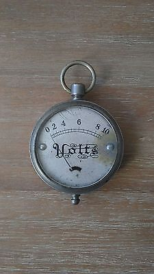 Antique Volt Meter . Vintage . Test Equipment . Steampunk
