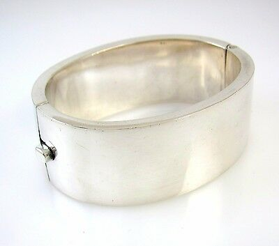 Vintage Mexican Handmade Sterling Silver Bangle Bracelet Mexico | RS TI
