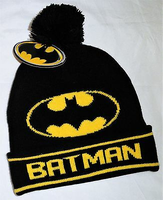 BATMAN... New Size 4 -6 years Knit Beanie, New/Tags, Authentic DC Comics, Boys