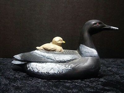 Ceramic Mother Loon & Baby