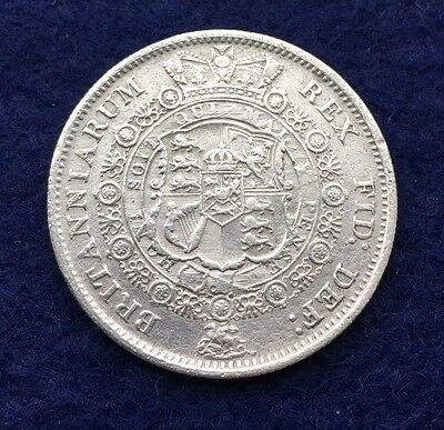 1817 King George Iii Silver Half Crown Bull Head Coin. (Very High Grade).