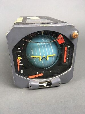 Vintage Aircraft Instrument - Sperry Rand Attitude Director Indicator AD-300A