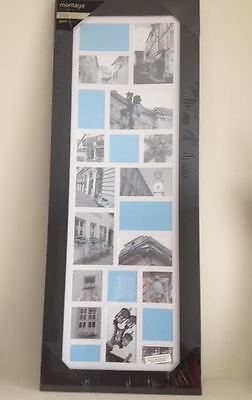 Photo frame  wall hanging home decor Nexxt Frame black 12 x 33 in new