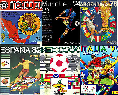 Panini FIFA World cup (soccer) all albums 1962-2014 scaned material