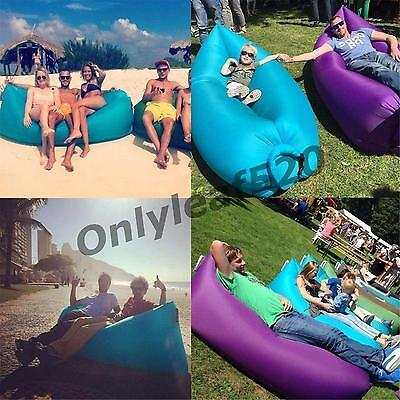 Fast Bag Air Sofa Bed Inflatable Sleeping Beach Lounge Lazy Lounger Outdoor
