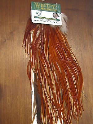 Fly Tying Whiting H/M Bronze Half Rooster Saddle Light Brown #A