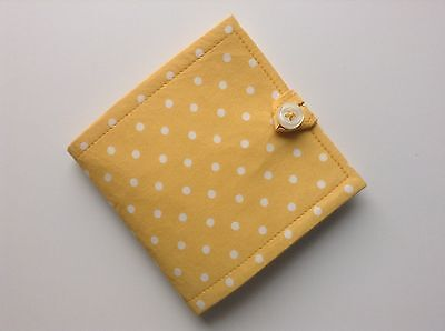 Needlecase. Yellow spot . Store needles safely. Gift. present Girl Mum