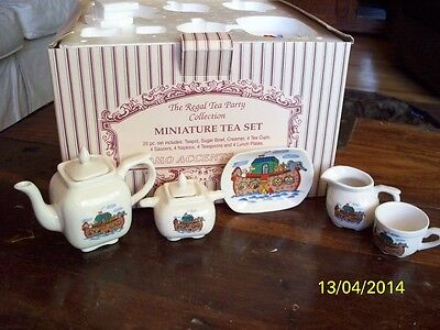 Miniature Noah's Ark Tea Set, by The Reagal Tea Party Collection,New