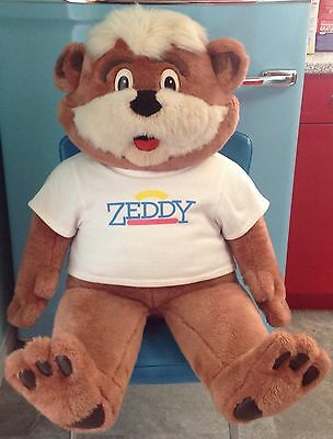Zellers Department Store Zeddy Bear Plush Toy Rare Huge Large Canada Mascot Old