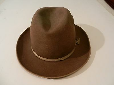 Vintage Mens Fedora By Royal Luxury Wormser,1960's Size 7 1/8