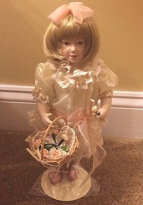 Franklin Heirloom Collection Alicia Flower Girl Doll -In original packaging