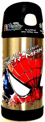 Thermos Amazing Spider Man 2 Funtainer! Stainless Steel Insulated Straw Bottle!