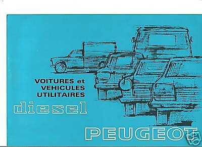 PEUGEOT 204 404 504 J7 - 1971 // catalogue brochure prospekt folder dépliant