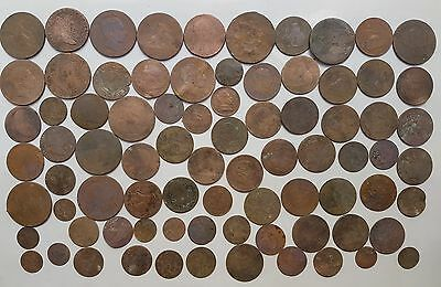 *Prados* LOT OF 79 SPANISH COLONIAL COINS