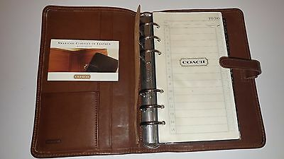 Vintage COACH Brown Leather Day Planner Address Book 5x8
