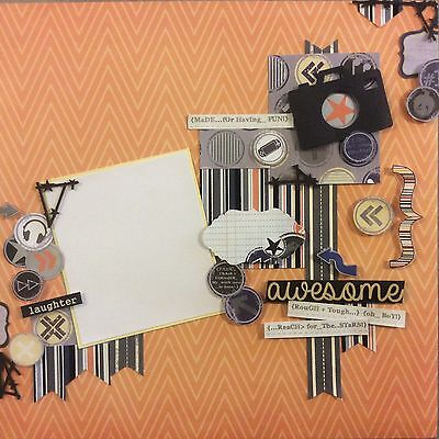 handmade scrapbook page 12 X 12 Oh Boy Made For Having Fun Layout