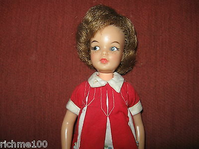 Vintage 1964 Ideal Tammy Family Pepper Doll in Penny Brite Dress Marked P9-3