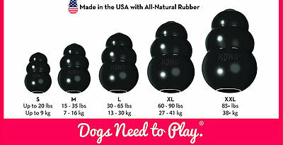 Kong Extreme Rubber Black Dog Toy Small Medium Large XL XXL Pack Of 1