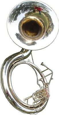"CHRISTMAS_GIFT""SOUSAPHONE_25"" VALVE_BIG_TUBAMADE*OF/FULL BRASS W/bag.BRASS FIN"