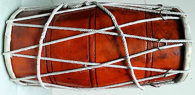Dholak Mango Wood Rope Tuned/indian Dholki/wedding Dholak.