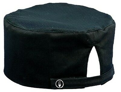Chef Works DFBB-BLK Cool Vent Skull Cap Beanie, Black , New, Free Shipping