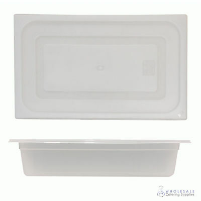 12x Food Pan with Clear Lid 1/1 GN 100mm Full Size Polypropylene Gastronorm