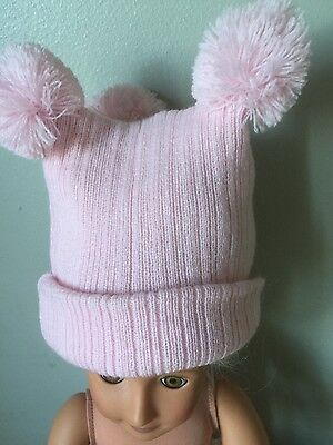 Baby Hats beautiful and soft 3 POMPOM for girls or boys blue pink cream