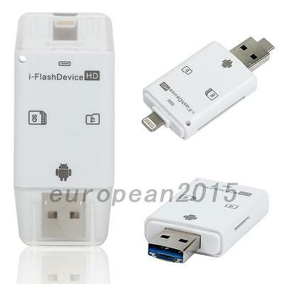 USB i-Flash Drive Micro SD/TF Memory Card Reader Adapter Fit for iPhone Android
