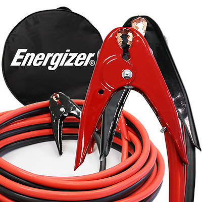 Energizer 1-Gauge 800A Heavy Duty Jumper Battery Cables 25 Ft Booster Jump Start
