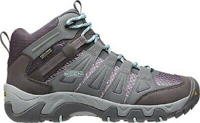 Keen Oakridge Mid Waterproof Womens Hiking Boots- Gray Shark