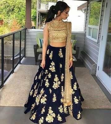 Indian Pakistani Designer Bollywood Ethnic Women Party Wear Lehenga Choli Set_A5