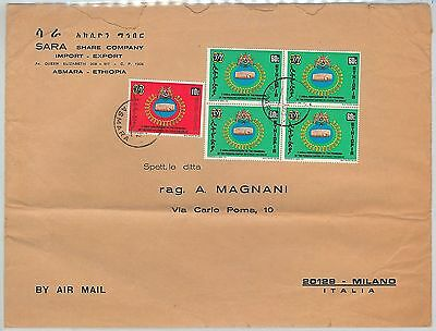 65034 - ETHIOPIA - POSTAL HISTORY -  LARGE COVER to ITALY - PERSIAN EMPIRE